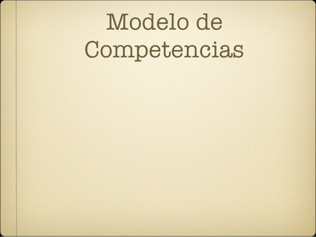 Modelo deCompetencias