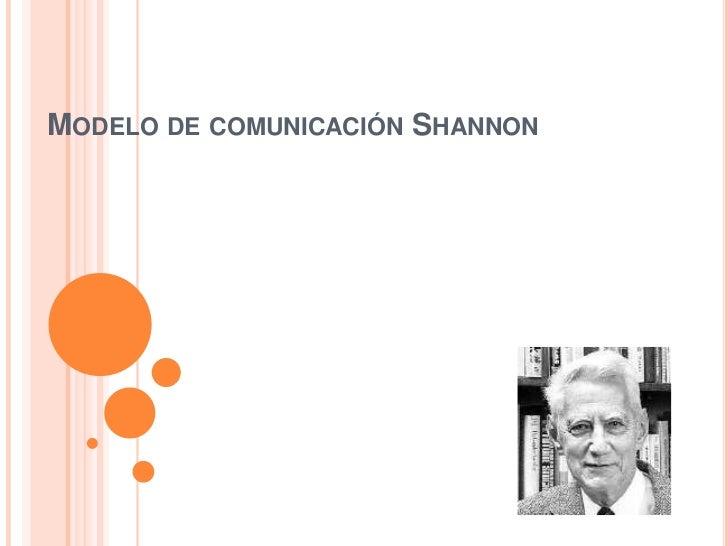 Modelo de comunicación Shannon<br />