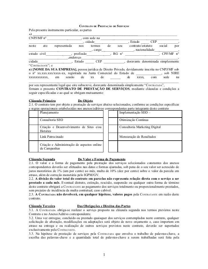 Modelo de contrato for Formato de contrato de trabajo