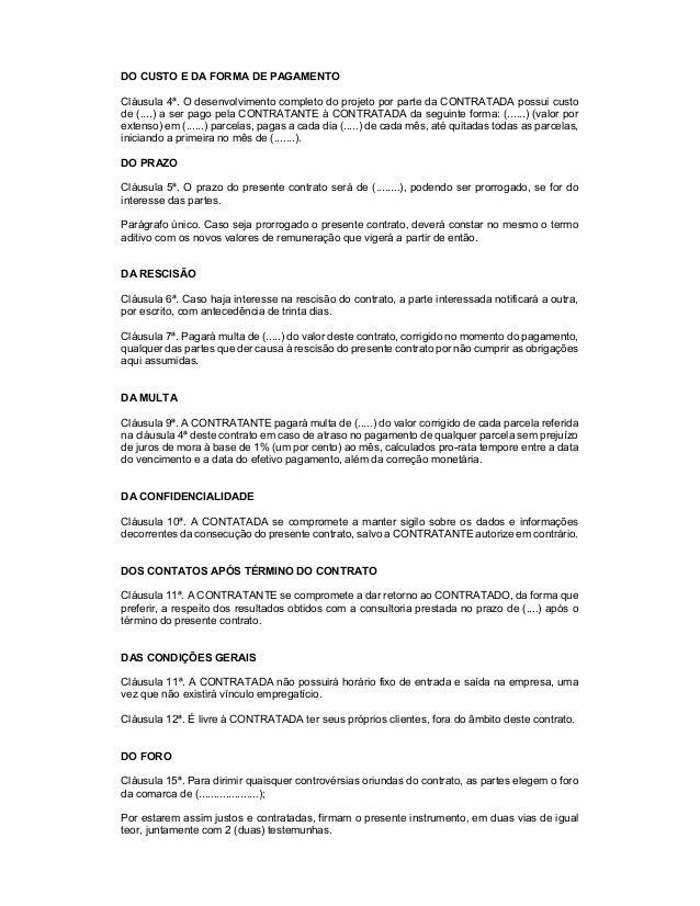 Modelo de contrato - Promito Consultoria Slide 2