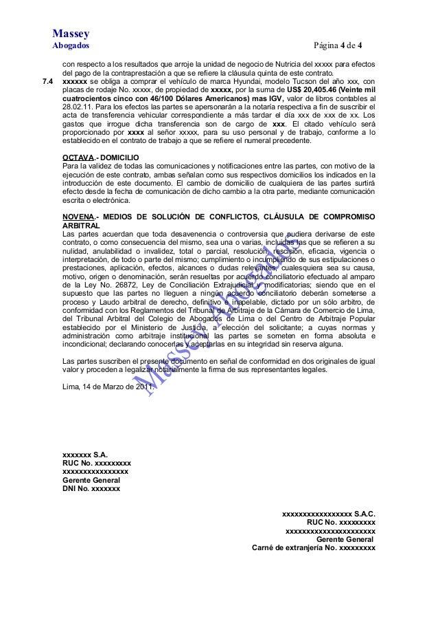 Modelo De Contrato De Cesi N De Derechos De Registros