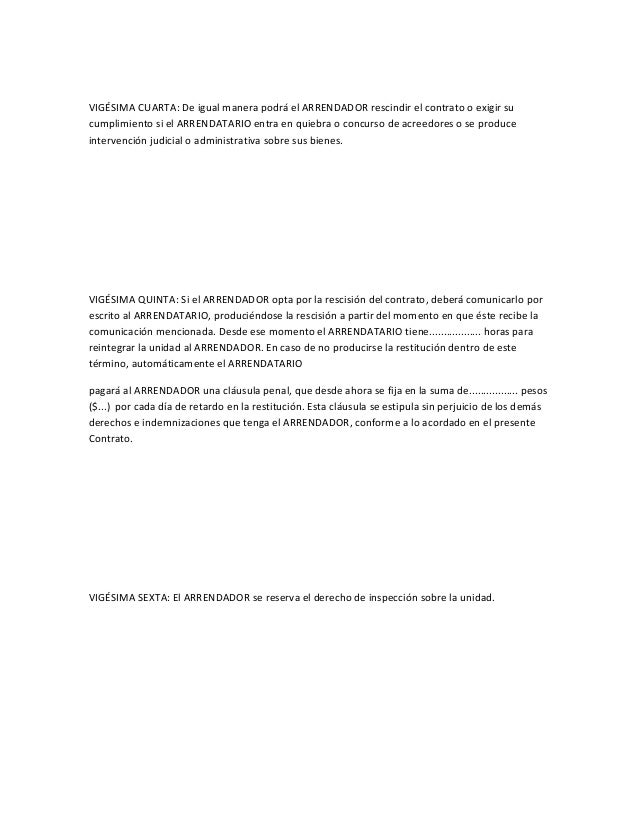 Modelo De Contrato De Leasing Operativo Para El