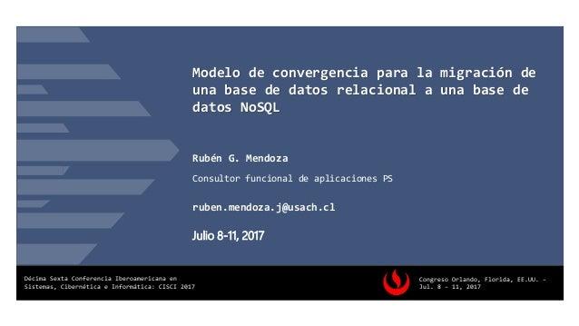 d802c6c5a3 Modelo de convergencia para la migración de una base de datos relacional a  una base de ...