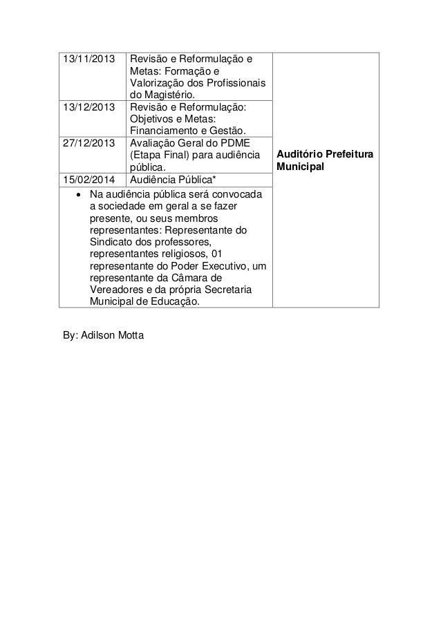 Modelo de Cronograma de Trabalho de Elaboração Plano Decenal de Educação Slide 2