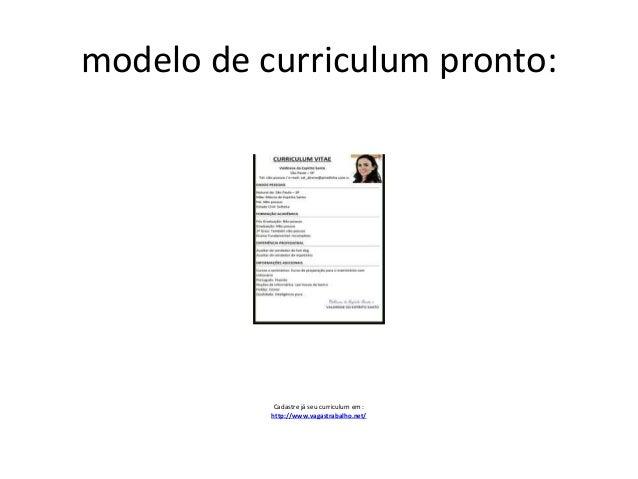 modelo de curriculum pronto cadastre j seu curriculum em httpwww