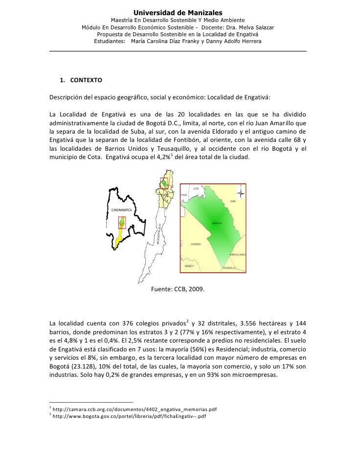 Universidad de Manizales                         Maestría En Desarrollo Sostenible Y Medio Ambiente               Módulo E...
