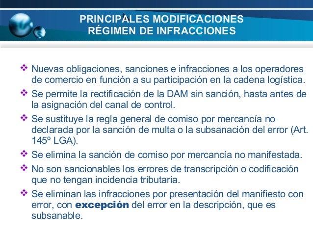 PRINCIPALES MODIFICACIONES RÉGIMEN DE INFRACCIONES   Nuevas obligaciones, sanciones e infracciones a los operadores de co...