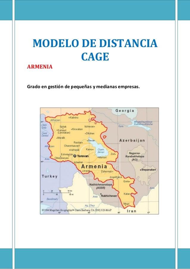 1 MODELO DE DISTANCIA CAGE ARMENIA Grado en gestión de pequeñas y medianas empresas.