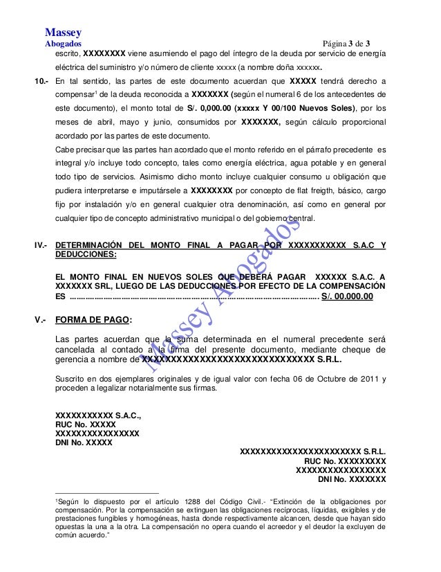 MODELO DE DOCUMENTO PRIVADO DE RECONOCIMIENTO DE DEUDA