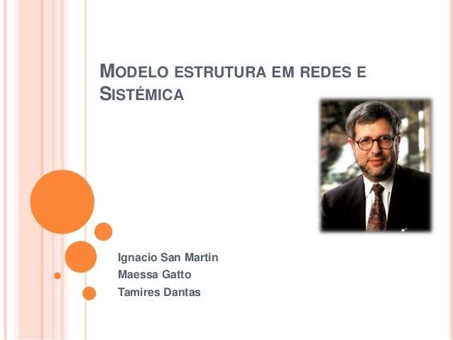MODELO ESTRUTURA EM REDES E SISTÉMICA  Ignacio San Martin Maessa Gatto Tamires Dantas