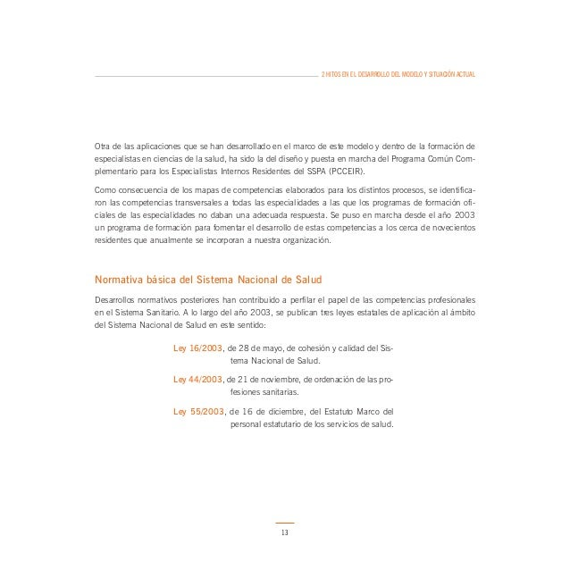 2 HITOS EN EL DESARROLLO DEL MODELO Y SITUACIÓN ACTUAL  2. LEY DE ORDENACIÓN DE LAS PROFESIONES SANITARIAS  Esta Ley estab...