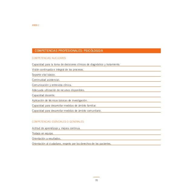 ANEXO 2  COMPETENCIAS PROFESIONALES: ENFERMERA/O COMPETENCIAS NUCLEARES  Oferta de servicios y conocimiento organizativo. ...