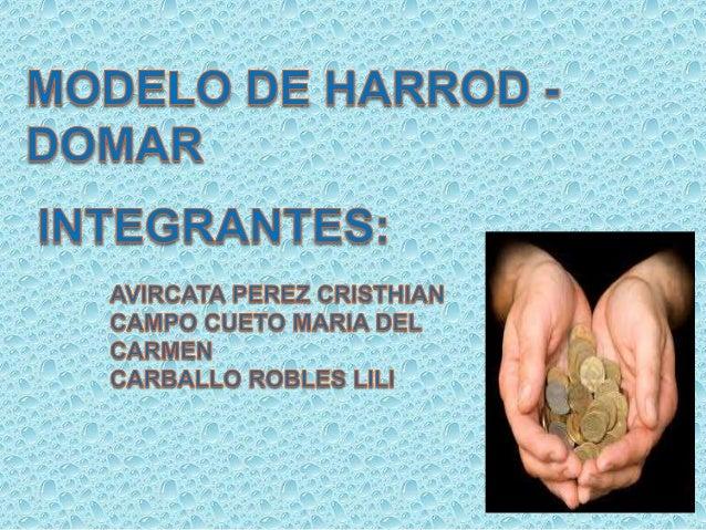 harrod domar model Subject : economics paper : economics of growth and development - i.