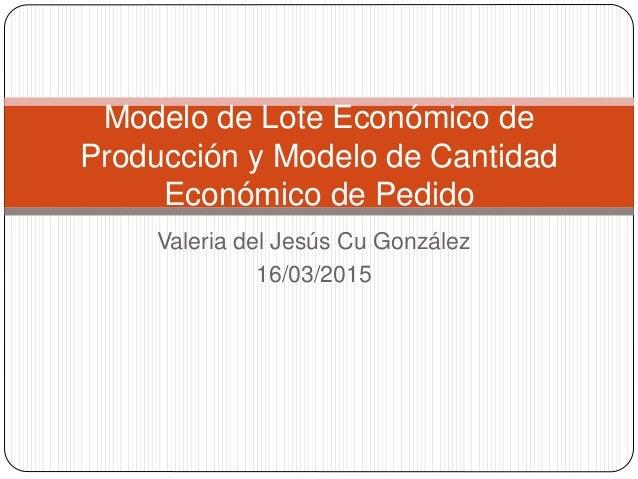 Modelo de lote economico de produccion pdf