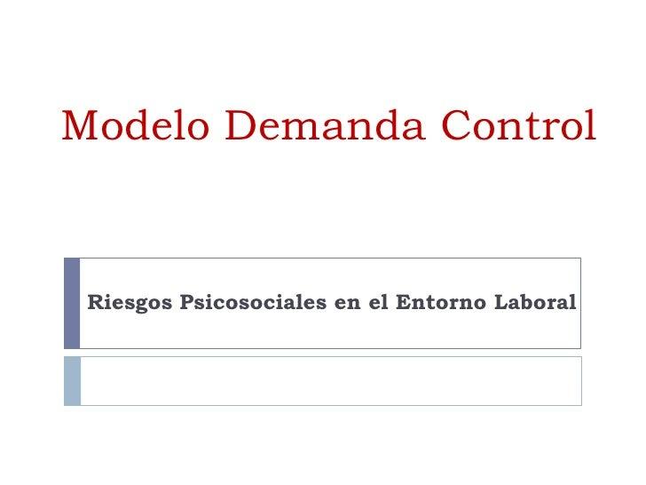 Modelo Demanda Control<br />Riesgos Psicosociales en el Entorno Laboral<br />