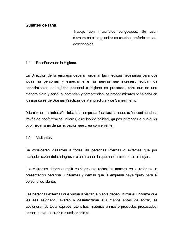 Modelo de manual de buenas pr cticas de manufactura en la for Manual de procedimientos de una empresa de alimentos