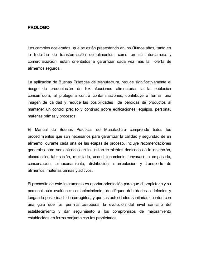 Manual de buenas practicas de manufactura en restaurants Manual de buenas practicas de manufactura pdf