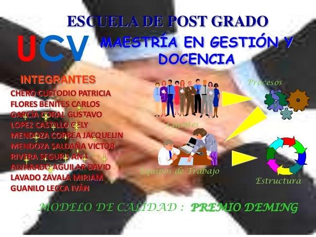 ESCUELA DE POST GRADO UCV MAESTRÍA EN GESTIÓN Y DOCENCIA CHERO CUSTODIO PATRICIA FLORES BENITES CARLOS GARCÍA CORAL GUSTAV...