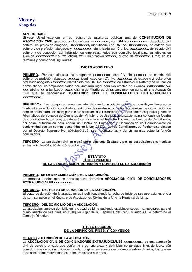 Página 1 de 9MasseyAbogadosSEÑOR NOTARIO:Sírvase Usted extender en su registro de escrituras públicas una de CONSTITUCIÓN ...