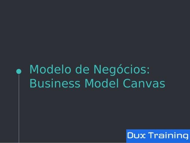 Modelo de Negócios: Business Model Canvas