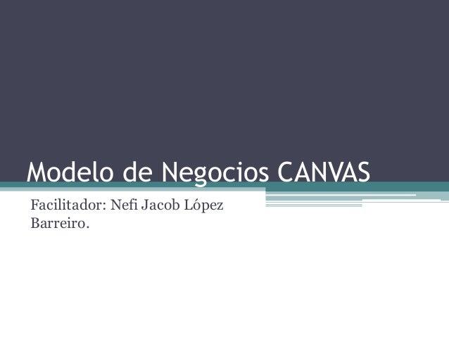 Modelo de Negocios CANVAS Facilitador: Nefi Jacob López Barreiro.