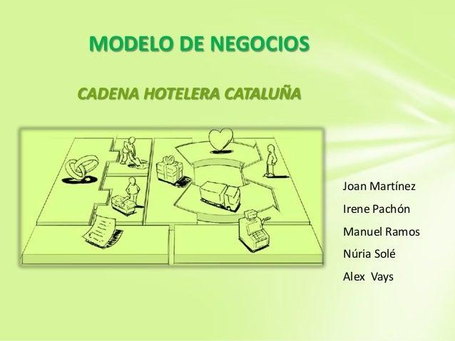 MODELO DE NEGOCIOS CADENA HOTELERA CATALUÑA  Joan Martínez Irene Pachón Manuel Ramos Núria Solé Alex Vays