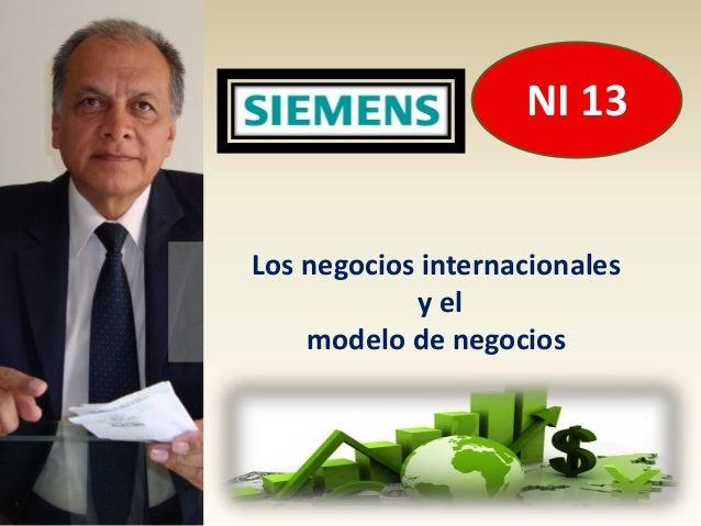 NI 13Los negocios internacionales            y el    modelo de negocios