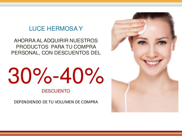 LUCE HERMOSA Y AHORRA AL ADQUIRIR NUESTROS PRODUCTOS PARA TU COMPRA PERSONAL, CON DESCUENTOS DEL 30%-40%DESCUENTO DEPENDIE...