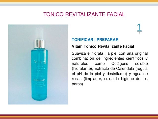 TONICO REVITALIZANTE FACIAL TONIFICAR | PREPARAR Vitam Tónico Revitalizante Facial Suaviza e hidrata la piel con una origi...