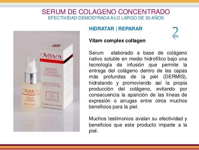 SERUM DE COLAGENO CONCENTRADO EFECTIVIDAD DEMOSTRADA A LO LARGO DE 30 AÑOS HIDRATAR | REPARAR Vitam complex collagen Serum...