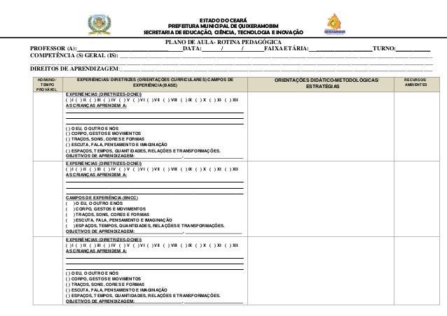 ESTADO DO CEAR� PREFEITURA MUNICIPAL DE QUIXERAMOBIM SECRETARIA DE EDUCA��O, CI�NCIA, TECNOLOGIA E INOVA��O PLANO DE AULA-...