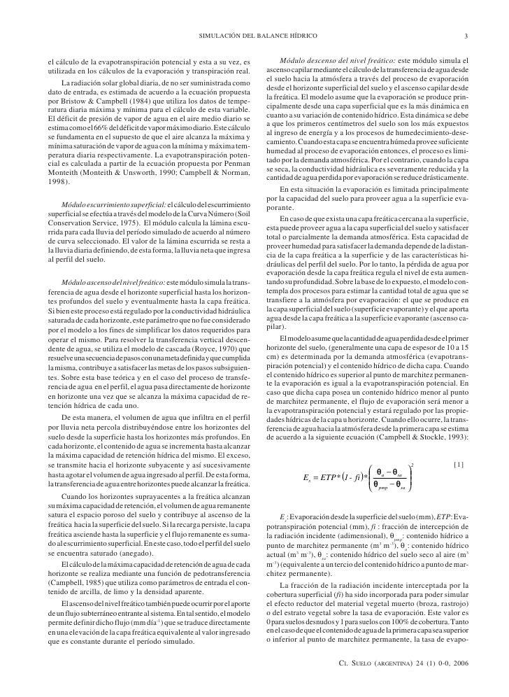 Modelo de simulaci n del balance h drico en suelos for Modelo acuerdo extrajudicial clausula suelo
