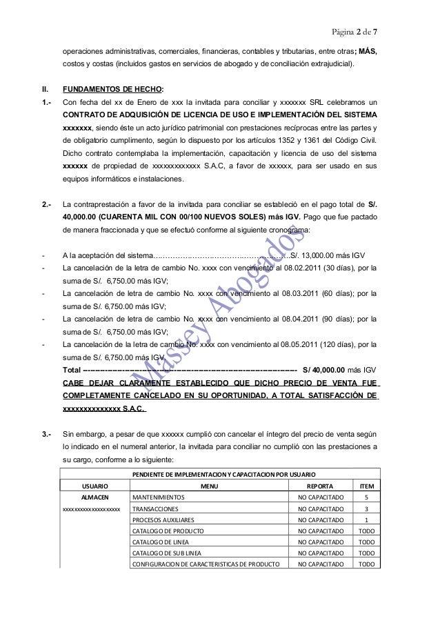 MODELO DE SOLICITUD DE CONCILIACIÓN EXTRAJUDICIAL DE OBLIGACIÓN DE DA…