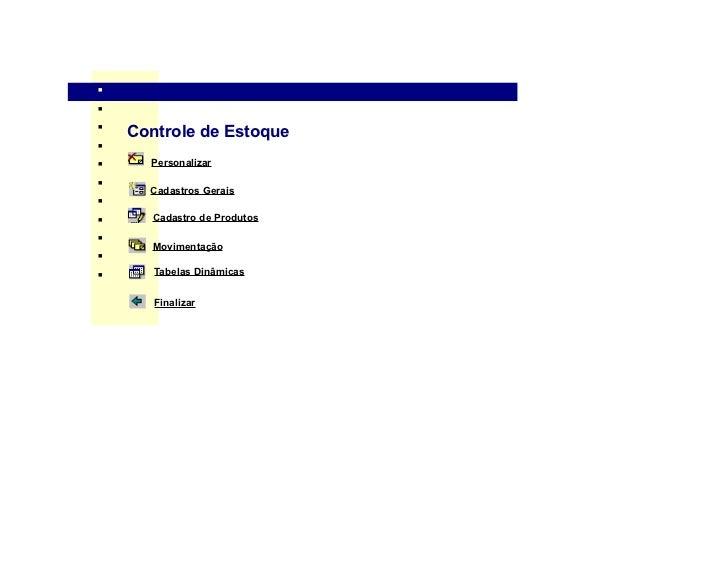 .nnn        Controle de Estoquenn         Personalizarn          Cadastros Geraisnn         Cadastro de Produtosn         ...