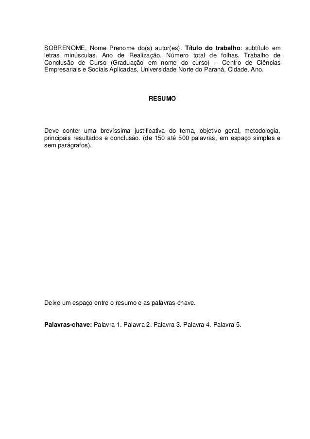 Monografia metodologia exemplo