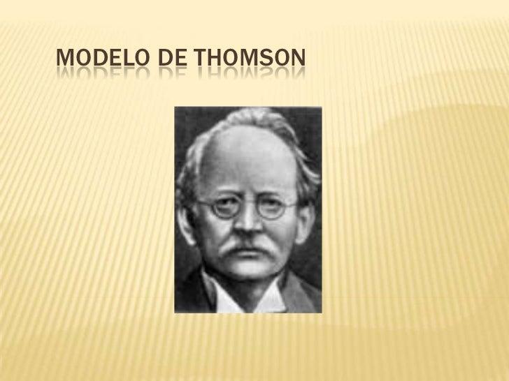 Modelo de Thomson<br />