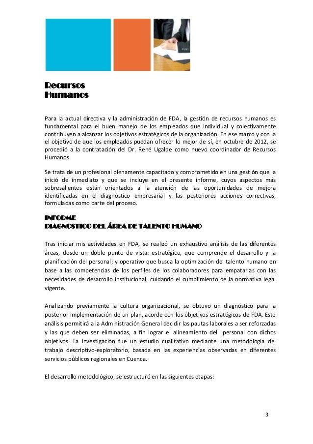 Modelo de un informe de gestión