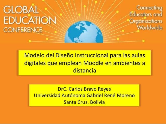 Modelo del Diseño instruccional para las aulas  digitales que emplean Moodle en ambientes a  distancia  DrC. Carlos Bravo ...