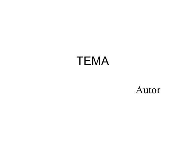 TEMA Autor