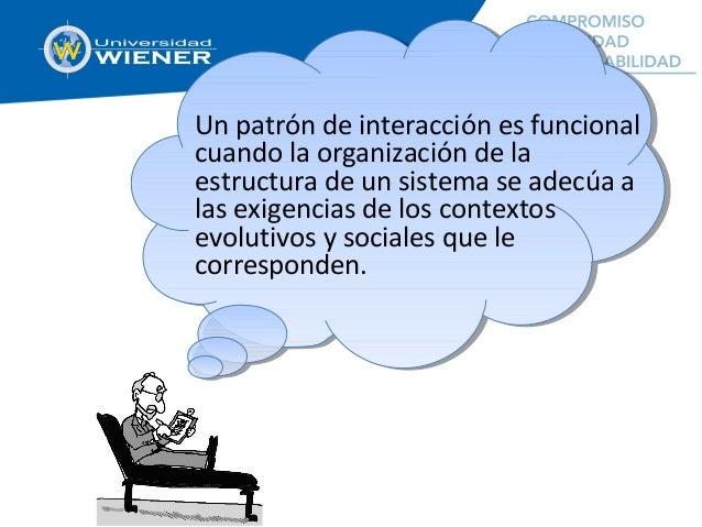 Un patrón de interacción es funcional cuando la organización de la estructura de un sistema se adecúa a las exigencias de ...