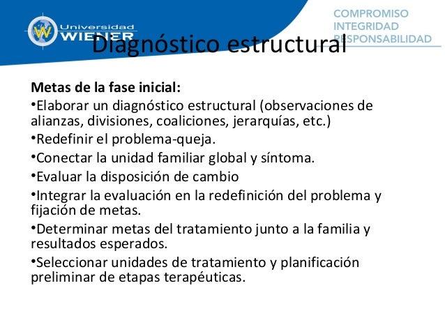 Diagnóstico estructural Metas de la fase inicial: •Elaborar un diagnóstico estructural (observaciones de alianzas, divisio...