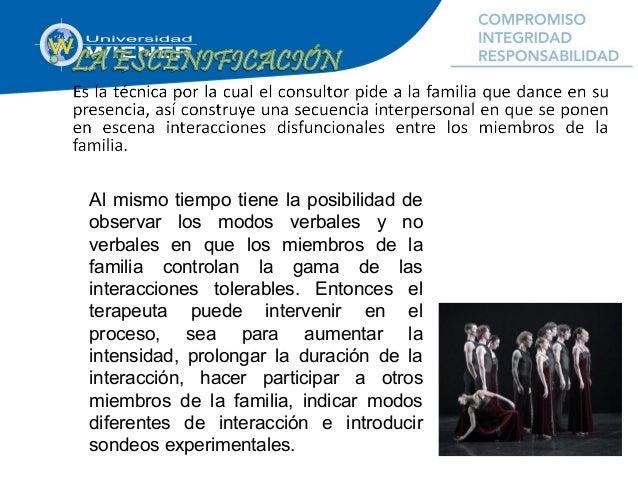 La escenificación se puede considerar una danza en tres movimientos: 1. El consultor observa las interacciones espontáneas...