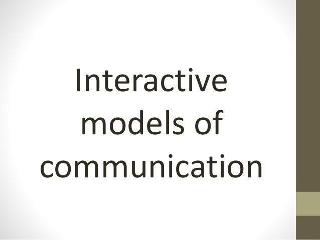 Model of communication pdf