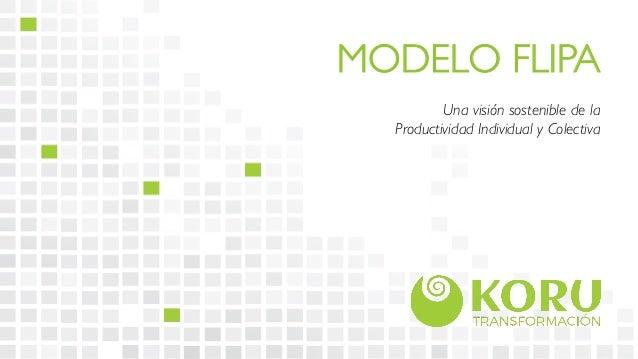 MODELO FLIPA  Una visión sostenible de la  Productividad Individual y Colectiva