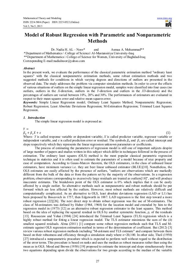 Mathematical Theory and Modeling www.iiste.orgISSN 2224-5804 (Paper) ISSN 2225-0522 (Online)Vol.3, No.5, 201327Model of Ro...