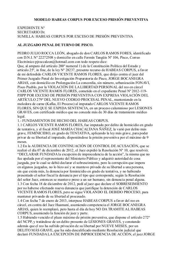 Modelo De Habeas Corpus Com Pedido Tcc November 2019