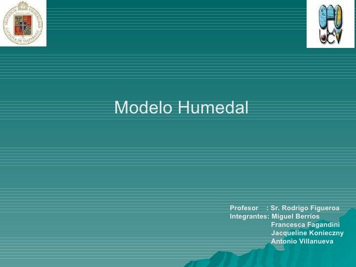 Modelo Humedal Profesor  : Sr. Rodrigo Figueroa Integrantes: Miguel Berríos Francesca Fagandini   Jacqueline Konieczny Ant...