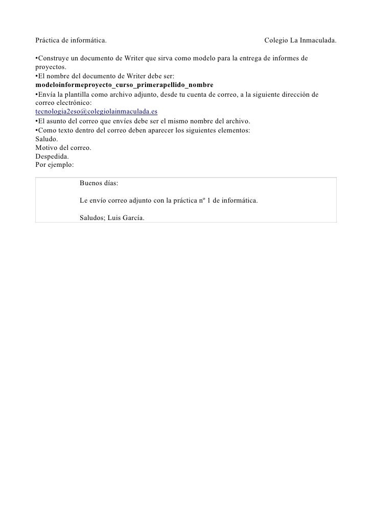 Modelo informe proyecto t cnico for Proyecto tecnico ejemplos