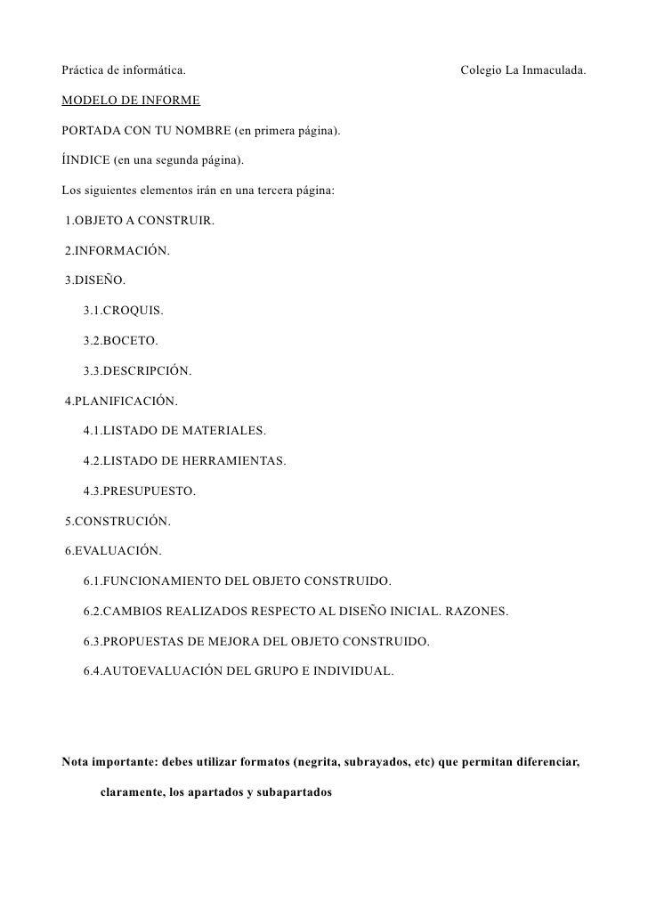 Modelo Informe Proyecto Técnico