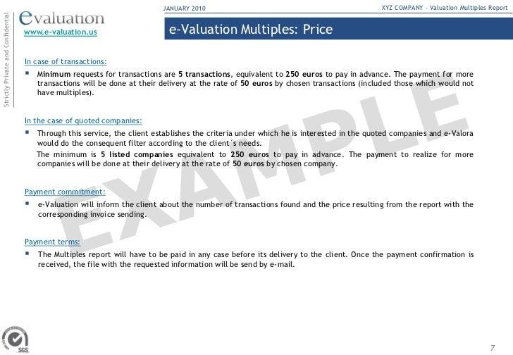 valuation multiple. Black Bedroom Furniture Sets. Home Design Ideas